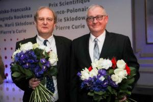 Laureaci pierwszej Polsko-Francuskiej Nagrody Naukowej: prof. Jakub Zakrzewski i dr hab. Dominique Delande