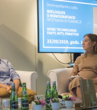 od lewej: dr hab. Łukasz Afeltowicz, socjolog oraz dr Agata Stasik - autorka książki