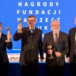 Prof. Andrzej Dziembowski, prof. Krzysztof Pachucki, prof. Andrzej Gałęski, prof. Timothy Snyder