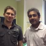 dr hab. W. Fendler i dr Dipanjan Chowdhury_fot. Archiwum prywatne